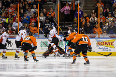 "Missouri Mavericks vs. Quad City Mallards, December 31, 2016, Silverstein Eye Centers Arena, Independence, Missouri.  Photo: John Howe / Howe Creative Photography • <a style=""font-size:0.8em;"" href=""http://www.flickr.com/photos/134016632@N02/32090833415/"" target=""_blank"">View on Flickr</a>"