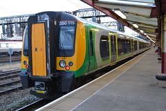 London Midland Desiro 350115 (Will Swain) Tags: uk travel england west london station train coast britain south main north transport rail railway august trains class line crewe 350 railways 8th midland mainline 2015 wcml desiro 350115