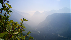 Valley of Mist (drapsch) Tags: mountain nature field fog river g4 lg glacier valley shrub depth