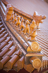 Roofline (Adam Dimech) Tags: roof tile ceramic temple berkeley chinese australia buddhism tiles nsw figure newsouthwales wollongong nantientemple nantien
