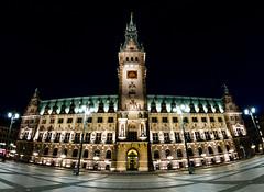 Hamburger Rathaus (DA Foto) Tags: city panorama architecture night nacht hamburg stadt architektur