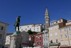 Tartini square, Piran (andrewobrien2) Tags: sea water mediterranean panasonic slovenia piran peninsula adriatic istria istrian lx100