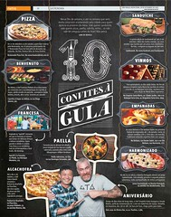 10 convites  gula - Metro SP / 2015 (tiagogalvaodesigner) Tags: news art layout design graphicdesign arte 10 comida restaurante gastronomia editorial illustrator jornal portfolio gula montagem infografia editorialdesign diagramao