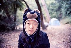 Bear In The Woods (bhop) Tags: california bear camping film hat 50mm diy big nikon kodak iso400 bigsur f100 400 sur nikkor f18 portra c41 v700 unicolor