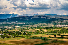 Monte Velino (Sharky.pics) Tags: sky italy mountain mountains field clouds europe july it valley farms abruzzo apennines 2015 montevelino sandemetrionevestini