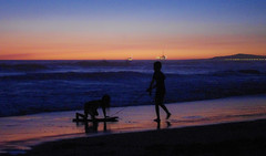 Towing Her In (F.emme) Tags: sunset beach kids children huntingtonbeach