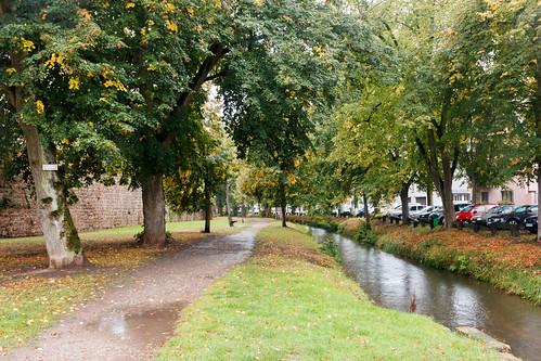 Chemin le long des fortifications à Wissembourg