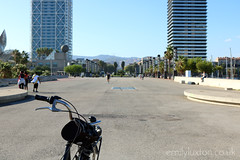 Bike at Port Olympic in Barcelona (emilyluxton) Tags: barcelona bike spain catalunya portolympic