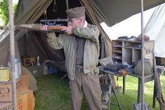 _DSF8525 (cospic7) Tags: france wwii rifle sniper ww2 normandy reenactor reenactors mauser k98 kar98 stmariedumont