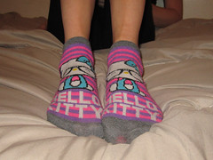 Hello Kitty Socks (sockstargirl) Tags: sexy feet socks sweaty smelly footfetish sexyfeet femalefeet sexysocks sockfetish