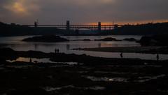 Britannia Bridge (naddieuk) Tags: sunset wales northwales britanniabridge