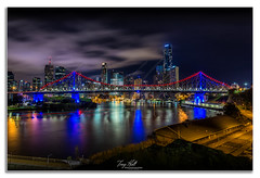 Story Bridge (Troy Holt Photography) Tags: bridge france colour water night canon lights long exposure flag australia brisbane story queensland rememberance sorrow 1740mm heartfelt 6d