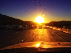 On the 91 (/\ltus) Tags: sunset highway traffic socal southerncalifornia trafficjam 91 hondapilot sr91 nothdr