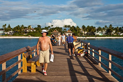334/365 (local paparazzi (isthmusportrait.com)) Tags: ocean light shadow vacation people man male beach gulfofmexico water lines clouds walking happy eos 50mm evening pier iso200 wooden fishing pod couple pretty gulf f14 awesome angles enjoy usm ef naplesfl 2015 naplespier 50mmf14usm 365project beachbody colliercountyflorida canon5dmarkii localpaparazzi redskyrocketman lopaps isthmusportrait costaricaorbust