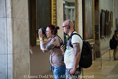 Paris 11: The Museum Experience. (Lors37) Tags: camera city wild paris france laura art public tattoo museum canon photography couple europe louvre mark candid iii august 5d dodd 2015 lilliput doddwild