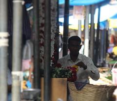 Startled (bluelotus92) Tags: flowers people india flower market startled expressive flowervendor karnataka mysore flowerseller mysuru devarajursmarket devarajaursmarket