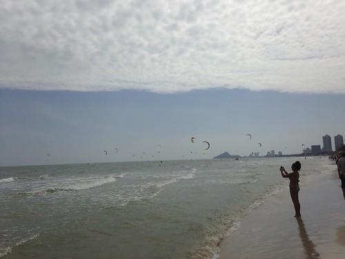 Kite Boarders at Hua Hin Beach