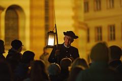Der Würzburger Nachtwächter (mattrkeyworth) Tags: people zeiss würzburg nightwatchman sal135f18z laea3 sonya7rii ilce7r2 würzburgernachtwächter