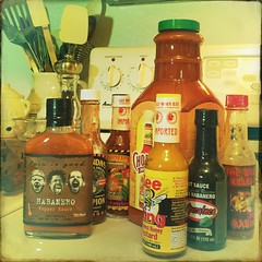 Should last me until the end of the year. (backbeatb00gie) Tags: kitchen hotsauce productplacement hipstamatic