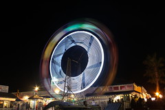 Balboa Island Ferris Wheel (Not Rosie) Tags: christmas light beach wheel canon island eos rebel long exposure trails ferris newport t5 balboa 1200d