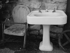 Wash Your Hands & Sit Down (Jayne Reed) Tags: seats chairs sinks antiques junk