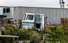 Retired and abandoned International Transtar II cabover (Thumpr455) Tags: truck semi tractor heavy machinery international intl ih cabover coe neglected abandoned transtarii junkyard nikon d800 afnikkor7300mmf4556vr