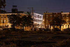 13th and Carpenter (D. Coleman Photography) Tags: philadelphia philly washington avenue vacant lot empty decay blight urban city street streets night lights shots canon sigma industrial history historical national register historic district 13th carpenter south broad