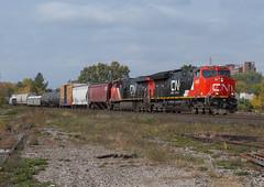 CN 3046E, CN 394 (Joseph Bishop) Tags: cn 3064 ge gevo et44ac brantford cndundassubdivision trains train track tracks railfan railroad railway rail rails tier 4
