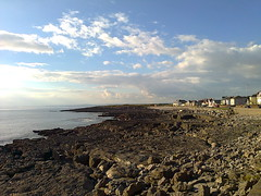 Some of the coastline around Porthcawl (southglosguytwo) Tags: 2016 autumn cameraphoneshot clouds october porthcawl sky sea view wales