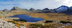 Pirin panorama (vvpopov) Tags: landscape lake blue sky peak autumn autumncolors rocks alpine tourism travel outdoor treck hicking nature park