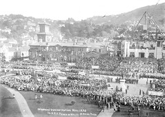 5; Childrens demonstration for the Royal Visit, H R H Prince of Wales - May 1920 (Wellington City Council) Tags: wellington historicwellington 1800s 1900s 1950s