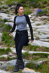 Hiker (Thomas Roland) Tags: holiday travel tourist slovakia slovakiet slovak republic summer sommer national park nrodn nature peak summit predn solisko mountain maountains bjerg berg hje tatra vysok tatry high tatras hiker woman girl candid