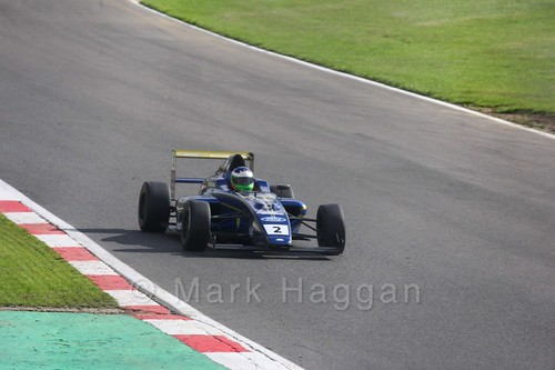 Andrew Richardson in British F4 during the BTCC Brands Hatch Finale Weekend October 2016