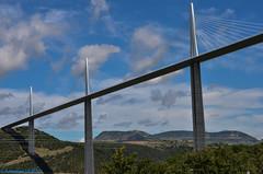 Viaduc de Millau (F) (TICHAT10) Tags: larzac punchodagast viaducdemillau pont creissels midipyrénées france ciel nuages nwn