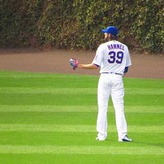 One more day! (Lucyrk in LA) Tags: cubsfan cubswin flythew wrigleyfield fall fallball october september playoffs chicagoist chicago sports pitcher jasonhammel cubs chicagocubs