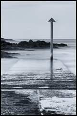 Dunseverick Harbour (Donna Rowley) Tags: harbour jetty sea water dunseverick portrush antrim longexposureblackandwhite mono