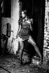 Lacy After Dark (micadew) Tags: micadew lacy bnw blackwhite blackandwhite brunette brownhair brunettewomanstreetstreet longhair night nightphotography lightsanddarks lighting monochrome beautiful beautifulbrunette beautyshoots portrait portraits