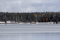 Snow covered Marina, Thanksgiving weekend, Waskesiu, Prince Albert National Park (Jim 03) Tags: snowfall waskesiu thanksgiving weekend prince albert national park 2016 squall trails marina jim03 jimhoffman jhoffman jim wwwjimahoffmancom wwwflickrcomphotosjhoffman2013