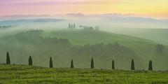 Paradiso (Lee Sie) Tags: italy tuscany villa sunrise europe italian landscape mist sunset sky clouds chapel vitaleta