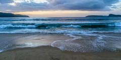 Cloudy sunrise at Ocean Beach (Merrillie) Tags: uminabeach landscape nature australia nswcentralcoast newsouthwales sea nsw dawn beach ocean centralcoastnsw outdoors sunrise photography seascape oceanbeach waterscape water centralcoast waves clouds