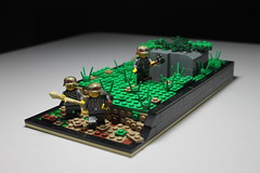 Trenches ([C]oolcustomguy) Tags: lego brickarms brick arms pill box nazi germany wwii ww2 americans