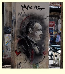 The Godfather (StellaDeLMattino) Tags: palermo graffiti vucciria godfather street art portrait sicilia sicily south italy meridione sud italia island colours colors colori strada mercato market nikon d5000 padrino