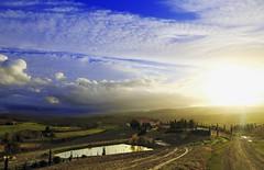 Gli alberi, le foglie, il sole, un temporale ... (Gio_guarda_le_stelle) Tags: valdorcia sanquirico tuscany sunset clouds sky italy landscape