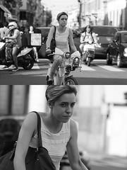 [La Mia Citt][Pedala] (Urca) Tags: milano italia 2016 bicicletta pedalare ciclista ritrattostradale portrait dittico nikondigitale mir bike bicycle biancoenero blackandwhite bn bw 89859