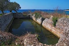 Ancien Roman tank (Vid Pogacnik) Tags: croatia hrvatska istria istra palud hiking biking outdoor landscape archeology ancientromans tank water sea