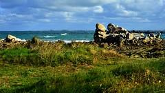 les sculptures des amiets, cléder (ericb29) Tags: lesamiets cléder océan sea mer littoral pennarbed finistère bretagne breizh brittany bzh nikond800 îledebatz rochers dune