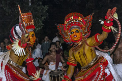 Theyyam Kannur India Ancient dance form (Anoop Negi) Tags: theyyam kerala india two performers red hinduism hindu religion ancient art dance form kannur performance photo photography anoop negi ezee123