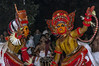 Theyyam Kannur India Ancient dance form (Anoop Negi) Tags: theyyam kerala india two performers red hinduism hindu religion ancient art dance form kannur performance photo photography anoop negi ezee123 body paint painting bodypainting bali baali vellatam