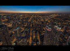 Chicago Skyline! (wandering indian) Tags: longexposure chicago hancock kedardatta nightphotography nikond810 night citylights wideangle skyline skyscrapers buildings architecture sunset