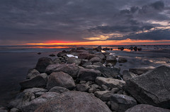 Gulf of Finland (Mistah_Grape) Tags: clouds ice water saintpetersburg d7100 sunset nature rock stones april russia finland gulf nikon landscape